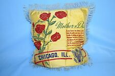 WW II ERA - US Army - Home Front - Mom & Dad  Satin Pillow Cover. Chicago ,ILL.
