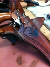 Custom Leather Holster With Bear Claw Cowboy Action