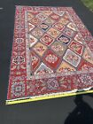 """VINTAGE Nourmac Woven RUG 9' x 5' 10"""" Great CONDITION and colors"""