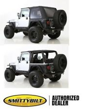 BLACK TINTED 2 in 1 Bowless Combo top 9973235 97-2006 soft top FOR Jeep Wrangler