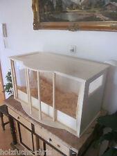 Terrarium XL Holz Schiebetür Hamsterkäfig Reptilien Schildkröte Echse Mäuse