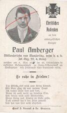 Nr 10699 Sterbebild deathcard K.u.K. Soldat IR 59 1915 Rußland Gefangenschaft