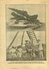 WWI Poilus Lance-flammes/Franchet d'Espèrey & General Pershing 1917 ILLUSTRATION
