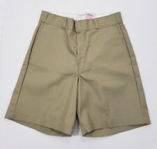 "New Dickies Size 31 Men's Beige Khaki Polyester Blend Shorts 8""inseam Flat Front"