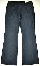NEW Express Design Studio Trouser Wide Leg Flare Jeans 8 X 32 Stretch NWT $69.50