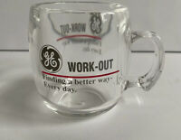 Vintage GE Coffee Mug Clear Work-Out Made In USA Plastic