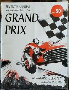 Watkins Glen 7th Annual Intl. Sports Car Grand Prix Program, 1954