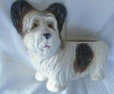 � Skye Crain Terrier Planter ~Vintage Dog~ Embossed Made Japan ~ Very Nice