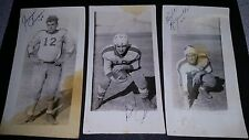 "[3] 1944 dated and signed Football Team Player Photos midwest 2/34 x 5"" glossy"