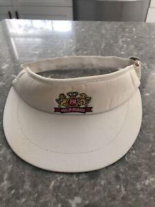 Vintage Philip Morris White Hat Visor