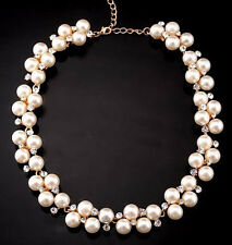 New Diamond Necklace Imitation Pearls Bridal Accessories Charming Pendant