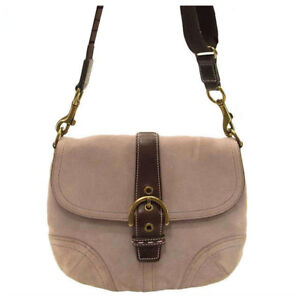 Coach Shoulder bag Pink Brown Woman Authentic Used E156