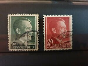 Poland - 1941 - German occupation - 2 stamp lot - used