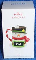 Hallmark 2018 Dad Snowman Mug Ornament NEW IN BOX