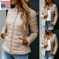 Womens Quilted Padded Hooded Lightweight Puffer Coat Ladies Winter Warm Jacket