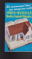 Johns Manville Quality Asphalt Shingles Brochure 1945