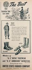 "1945 AD.(XF8))~UNITED STATES RUBBER CO. ""ROYAL"" FOOTWEAR AND AMMOCURE RAYNSTERS"