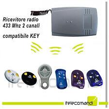 Ricevente radio ricevitore 433 Mhz 2 canali compatibile Key automation tutti