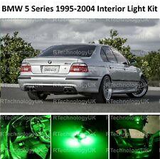 GREEN PREMIUM BMW 5 SERIES E39 SALOON INTERIOR FULL LED BULBS LIGHT KIT SET