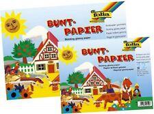 Buntpapierheft Buntpapier Glanzpapier gummiert  12 Blatt farbig sortiert DIN A4