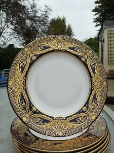 """Royal Worcester HAREWOOD 9.25"""" breakfast plate (s): 1sts and unused"""