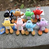 8Pcs/Set Super Mario Plush Doll Toy Colorful Yoshi Pendant 11CM Gifts RANDOM