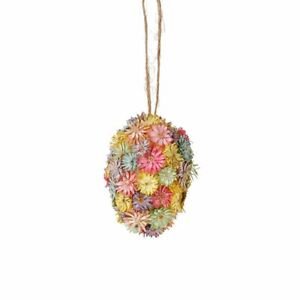 RAZ Easter Decor - Dried Flower Easter Egg Ornament 1pc