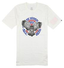 NIKE 6.0 Night Owl T-Shirt sz S Small White Slim Fit Retro 80's Beaverton Oregon