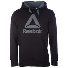 Reebok Mens Mens Brushed Big Logo Hoody in Black - XS AO2323