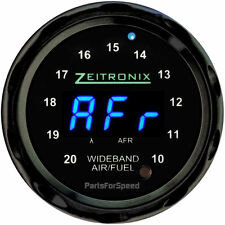 Zeitronix ZR-1 Air Fuel Ratio Gauge for Wideband Black / Blue LED