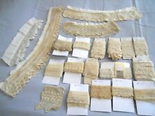 Lot of 20 Pieces Antique Vintage Knitted Lace Trim 22 Yards