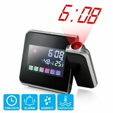 Digital Alarm Clock Projector On Ceiling Projection Weather Time LED Display NEW