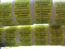 1000 Fluorescent Self Adhesive Labels