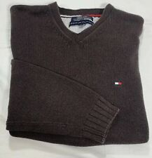 Tommy Hilfiger Mens Cable Knit Cricket V-Neck Classic Sweater Size M