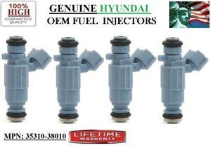 4x OEM Hyundai Fuel Injectors for 1999-04 Hyundai Sonata 2.4L I4  #35310-38010