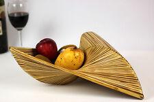 Decorative Triangular Bamboo Bowl Basket Fruit Potpourri Bread Rolls Natural