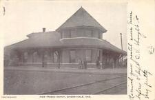 NEW FRISCO DEPOT Cherryvale, Kansas Railroad Station 1907 Vintage Postcard