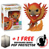 FUNKO POP HARRY POTTER FAWKES FLOCKED SDCC 2019 EXCLUSIVE + FREE POP PROTECTOR