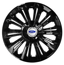 "16"" Wheel trims fit Ford Transit Custom Focus Galaxy 4 x16 inches  black gloss"