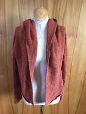 Eileen Fisher M NWOT open front hoody/cardigan sweater current bias cut