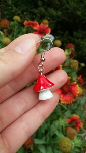 Cottagecore Mushroom Forest earrings