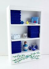 Dolls House Full Shelf Unit Dark Blue Towels & Accessories Bathroom Furniture