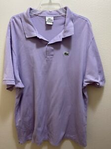 Lacoste Mens Purple Color Polo Shirt Sz Fr 8 Us 3XL XXXL