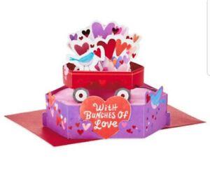 """Hallmark Paper wonder Pop Up Valentine's Day Card """"With Bunches of Love"""""""