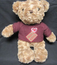 17 inch Dan Dee Plush Hugs and Kisses Bear with Maroon Sweater