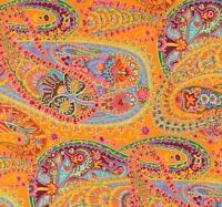 PAISLEY JUNGLE~ Kaffe Fassett ~ Orange ~ Westminster ~ Rowan ~ Fabric ~ 1/2 yard