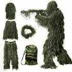 Kids 3D Ghillie Suit Woodland Camouflage Outdoor Hunting Games Clothing US