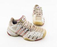 Tennisschuhe Adidas Barricade Sneaker Kunstleder Textil weiß Gr. 5 = 38