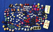 Vintage Mid-Century Buttons & Charms - Realistic, Goofies, Celluloid, Bakelite +