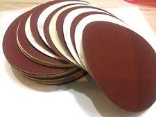 """9"""" inch Sanding Disc, 80 Grit , 10 Packs, Hook &loop AL Oxide for Disc Sanders"""
